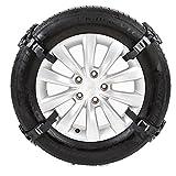 steman--net 自動車タイヤ滑り止めチェーン(作業手袋付き) 4PCSパッケージ 雪道・凍結・砂道・悪路 緊急滑り止めチェーン 高品質TPU+スチール製品 幅165-265mmタイヤ適用