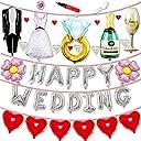 JINSELF 結婚式 吊るせる風船 バルーン パステル パステルカラー ペーパーフラワー ポンポン フォトプロップス プロップス ガーランド 誕生日 飾り付け 飾り 装飾 セット ポンプ 空気入れ付き シルバー KB