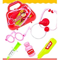 Kids Pretend Play Funおもちゃ、ベビーDoctor Medical Play Carryケースセット教育Role Play Toyキットギフト レッド