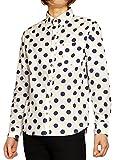 日本製 国産 ブロード ドット柄 長袖 ボタンダウンシャツ メンズ XL ホワイト大柄#9