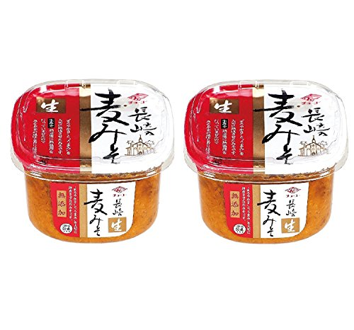 チョーコー 無添加 長崎麦みそ 750g (カップ)×2個セット