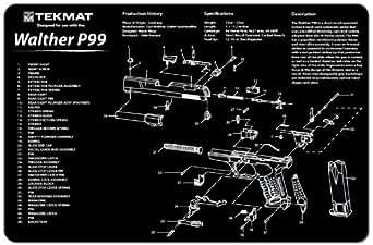 Walther P99(ワルサーP99) ハンドガン クリーニングマット(約43.5 x 29cm) / デスクマット