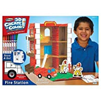 RoseArt 3D Create 'n Color Fire Station [並行輸入品]
