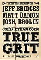 True Grit映画ポスター2Sided元Advance 27x 40JEFF BRIDGES