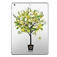 iPad Air2 スキンシール apple アップル アイパッド A1566 A1567 タブレット tablet シール ステッカー ケース 保護シール 背面 人気 単品 おしゃれ フラワー 花 緑 009802