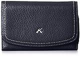 [キタムラ] 二折財布 二折財布、ショルダー付き ZH0326 10901 ダークブルー/ホワイトステッチ