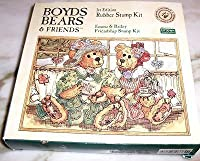 Emma & Bailey Friendship Rubber Stamp Kit - Boyds Bears & Friends [並行輸入品]