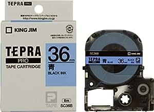 キングジム PROテープカートリッジ カラーラベル SC36B