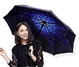 (INFINTIE) 大型96cm 折りたたみ傘 上品な花柄 日傘 晴雨兼用 8本骨 (宇宙)