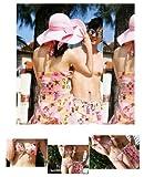 【防水ポーチ付】レディース水着ホルタービキニ☆ピンクマリン2wayワンピース3点セット(L)