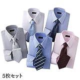 ワイシャツ 長袖 メンズ 形態安定 銀座・丸の内のOL100人が選んだ ワイシャツ&ネクタイセット カラー系 50405 10644(L)