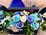 フレグランス シャボンフラワー ソープフラワー 紙石鹸 薔薇 造花 枯れない 花 溢れる フラワーボックス プレゼント 母の日 父の日 出..
