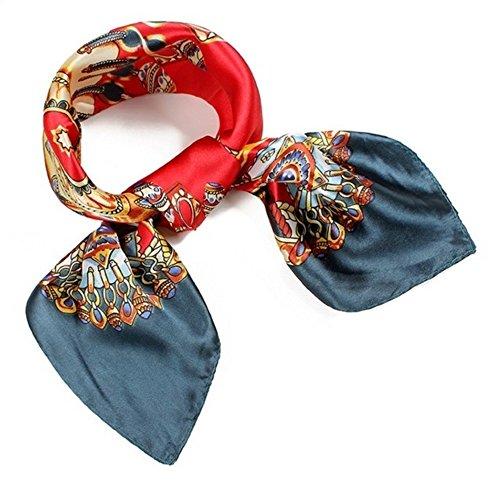 (罗茜)玫瑰* [丝绸风格的古典风格的围巾]时尚广场Tsuiri袋周杰伦头饰带手链缠绕安排免费潮流时尚女装
