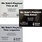 We Didn't Playtest This At All - Set of 3 Different Games by Asmadi [並行輸入品]