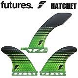 FUTURE FINS 【フューチャーフィン】 HATCHET 6'0 [Green Black] V2 F4 SIDE ロングボード用 【ハチェット】