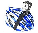 Taoric Gopro hero7 6 5 /DJI osmo action用 自転車用ヘルメットブラケット ヘルメットベルト アクセサリー