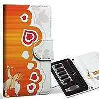 スマコレ ploom TECH プルームテック 専用 レザーケース 手帳型 タバコ ケース カバー 合皮 ケース カバー 収納 プルームケース デザイン 革 ラブリー ハート 天使 キューピッド 006562