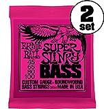 【国内正規輸入品】ERNIE BALL アーニーボール エレキベース弦 #2834 SUPER SLINKY BASS 2SET スーパー・スリンキー・ベース 2セット