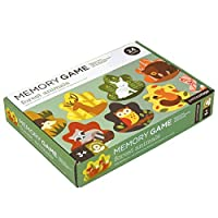 Petit Collage Memory Game Forest Animals [Floral] [並行輸入品]