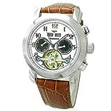 [ジョン・ハリソン]J.harrison 4機能表示・ビッグテンプ付・ギミック手巻式腕時計 JH-002HWB メンズ 【正規輸入品】