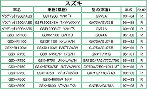 スズキ GSX-R1100/750/600用 ブレーキパッド 後 【T063】
