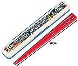 スケーター 箸 箸箱セット 18cm ぎゅうぎゅう ミッキー & ドナルド ディズニー 日本製 ABM3A