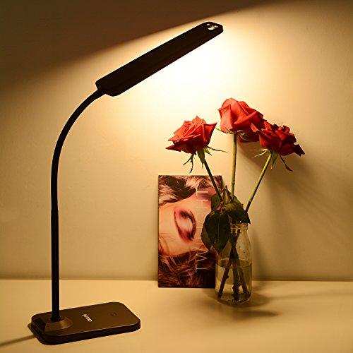 LEDデスクライト exwell 読書ランプ 目に優しい 57個LEDライト 明るさ 400ルーメン 電気スタンド 省エネ 学...