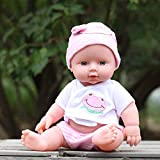 28cm baby doll Rotomolded PVC dolls baby bath toy belt voice-activated water dolls Lifelike Accompany Doll Toy Pink