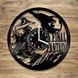DecorArt Studio Final Fantasy Vinyl Record Wall Clock Japan Video Game Anime Manga Perfect Art Handmade Art Home Unique Gift idea Him Her (12 inches)
