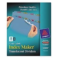 インデックスメーカークリアラベルPunchedディバイダー、マルチカラー8-tab、文字、5セット、として販売5セット