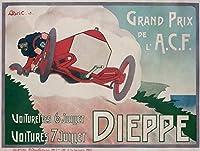 Grand Prix–ディエップヴィンテージポスター(アーティスト: Bric )フランスC。1908 36 x 54 Giclee Print LANT-58214-36x54