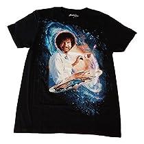 ボブ・ロス・ミスキース・ジャスト・ハッピー・アクシデントグラフィックTシャツメンズ・サイズ(M、ブラック) Size:XL