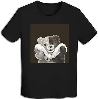 プリント 半袖シャツ メンズ T-Shirt Monokumaダンガンロンパ Tシャツ White