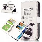 UNEXTATI Galaxy S6 ケース 高品質 PUレザー 手帳型ケース 保護カバー カード収納 液晶保護 防塵 Samsung GalaxyS6 用 Case Cover (P2 ホワイト)