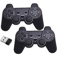 プレイステーション用PS3 PS2 UsbゲームパッドワイヤレスコントローラーワイヤレスゲームコントローラーゲームジョイスティックBluetooth接続ダブルハ