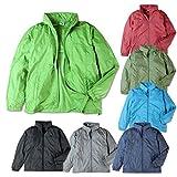 (ネイビー/M)メンズ ジャケット FIRST DOWN ファーストダウン 撥水 透湿 暴風 防花粉 UV対策 リフレクター ポケッタブル ウィンドブレーカー