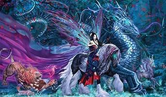 マジックプレミアムプレイマットのアーティスト:ルース·トンプソンによるW妖怪RIDE/アートワーク  Artists of Magic Premium PlaymatS -  RIDE OF YOKAI with artwork by RUTH THOMPSON