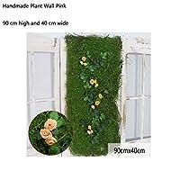 人工的な生け垣パネルトピアリー植物、紫外線防御高密度緑のパネル人工的なコケ植物 (Color : Yellow, Size : 1pack)
