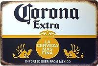 コロナ ビール ブリキ看板 【20cm×30cm】 Corona Extra Beer A4サイズ アメリカン インテリア雑貨 [並行輸入品]
