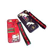 アディダス ジャパン 【JADE Japan】 iPhone6/6s/6Plus/6s Plus/ iPhone7/7 Plus 招き猫 鶴 ラッキー 幸運 リストバンド付 ソフト iPhoneケース (iPhone 7plus, 3)