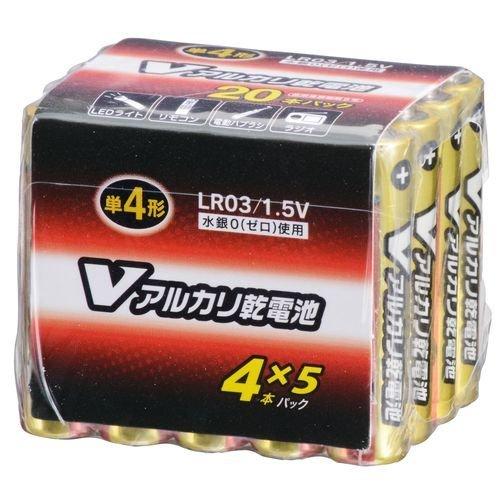 アルカリ単4乾電池 20本 LR03/S20P/V...