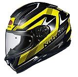 オージーケーカブト(OGK KABUTO)バイクヘルメット フルフェイス AEROBLADE5 RUSH(ラッシュ) ブラックイエロー (サイズ:XL) 570538