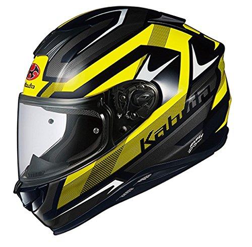 オージーケーカブト(OGK KABUTO) バイクヘルメット フルフェイス AEROBLADE5 RUSH(ラッシュ) ブラックイエロー 570521 L (頭囲 59cm~60cm)