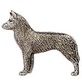 シベリアンハスキー イギリス製 アート ドッグ ブローチ コレクション