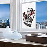 YOLIYANA ステンドグラスウィンドウフィルム 男性の隠れ家の装飾 バスルーム シャワードア ヒート コトロール用 紫外線防止 おいしいフレッシュプレミアムビール オールドファッショングラフィックデザイン 24''x48'' YO_03_04_Q0404_047598