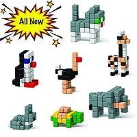magnego 250ピース磁気おもちゃ子供の構築ブロックキューブ、9異なる色磁気キューブBuilding Bricks 250 PCS Magnego