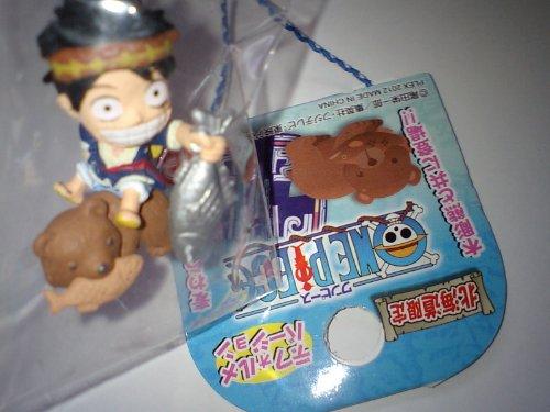北海道限定ワンピース★ルフィ<木彫り熊>デフォルメ根付