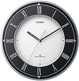 シチズン 高感度 電波 掛け時計 アナログ スリーウェーブM823 グリーン購入法 適合商品 黒 CITIZEN 4MY823-002