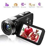 ビデオカメラ カムコーダー フルHD 1080p デジタルカメラ 24.0MP 18倍デジタルズーム 270°回転 リモコン付き 3.0インチLCD 液晶画面