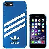 adidas 時計 TeamS(チームエス) adidas アディダス iPhone7 ケース ブランド ハード スマホケース アイホン7 ケース 3ストライプ ブルー/ホワイト 当店オリジナルフィルム付き [並行輸入品]